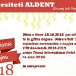 Ceremonia e hapjse se Vitit Akademik 2018-2019