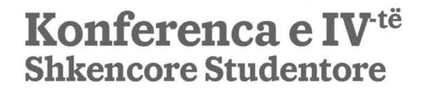 Konferenca e 4-të Shkencore Studentore, Maj 2019